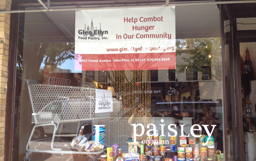 window volunteer food drive