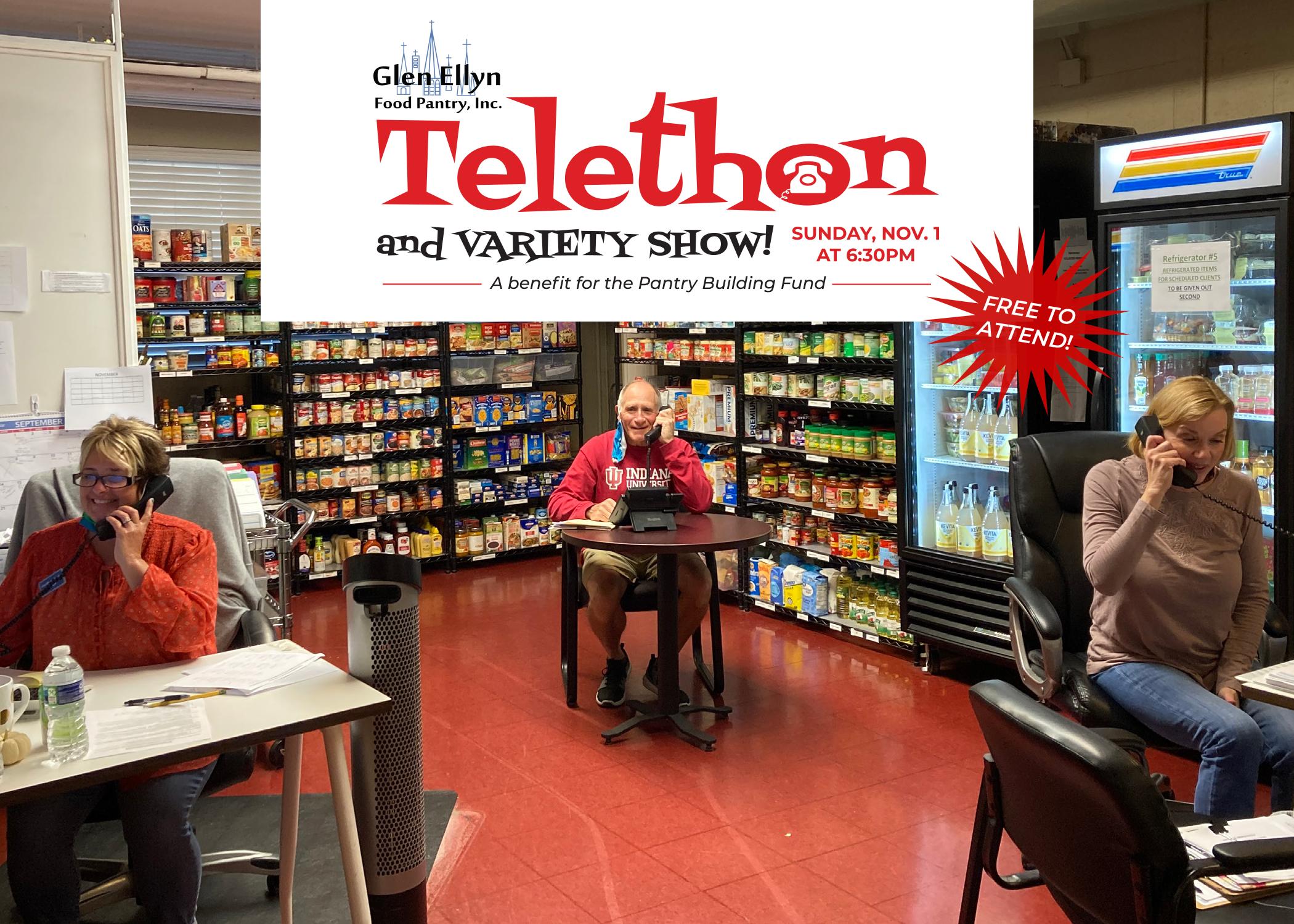 Free Telethon on Nov. 1